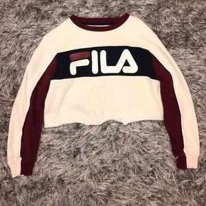 Fila Cropped Sweatshirt